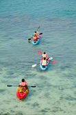 Traveler kayaking — Stock Photo