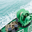 Winch on passenger ships. — Stock Photo