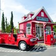 Vintage fire truck - Stock Photo