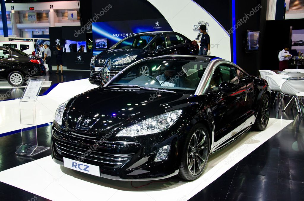 BANGKOK - MARCH 27: Peugeot RCZ car on display at The 33th Bangkok International Motor Show on March 27, 2012 in Bangkok, Thailand. — Stock Photo #10729140