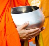 Monk s alms bowl — Stock Photo