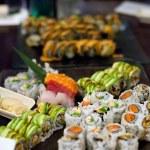 Assorted Sushi Rolls — Stock Photo
