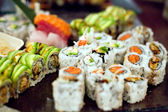 σούσι κυλίνδρους ποικιλία — Φωτογραφία Αρχείου