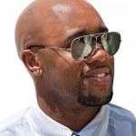 stilig affärsman med solglasögon — Stockfoto