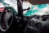 Crashed Automobile Interior — Stock Photo