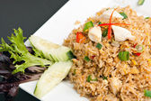 Thai Crab Fried Rice — Stock Photo