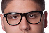 Teenager Wearing Nerd Glasses — Stock Photo