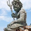 Large King Neptune Statue in VA Beach — Stock Photo