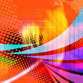 Swooshy Lines Abstract Layout — Stock Photo