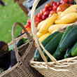 Fresh Organic Farmers Market Vegetables — Stock Photo