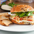 Delicious Turkey Sandwich and PitChips — Stock Photo #8179627