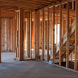 Stock Photo: Unfinished New Construction Framing
