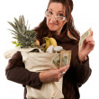 Smart Savvy Grocery Shopper — Stock Photo