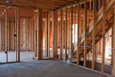 Unfinished New Construction Framing — Stock Photo