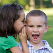 Royalty-Free Stock Photo: Kids Telling Secrets