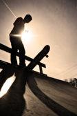 Skateboarder Silhouette — Stock Photo