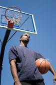Basketball Player Thinking — Stock Photo