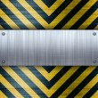 Hazard Stripes Brushed Aluminum — Stock Photo