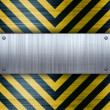 Hazard Stripes Brushed Aluminum — Stock Photo #8692880