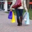 Pretty Girl Shopping — Stock Photo