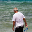 Senior Citizen Snorkeling in Tropical Waters — Stock Photo