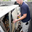 Stock Photo: Heating Air Conditioning Technician