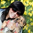 Smiling Girl and Dog — Stock Photo #8695492