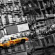 Stock Photo: Abstract NYC Taxi