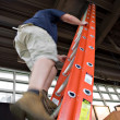 Man Climbing a Ladder — Stock Photo #8695567