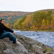 Stock Photo: Vermont River Man