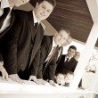 Wedding Party Groomsmen — Stock Photo