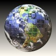 Foto Stock: 3D Wire Frame Earth