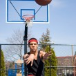 Man Passing the Basketball — Stock Photo #8697326