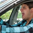 Foto Stock: Man Expressing Road Rage