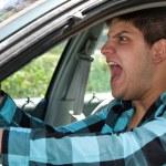 Man Expressing Road Rage — Stock Photo