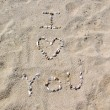 Stock Photo: Beach I Love You