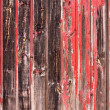 Red Painted Wood Paneling - Stock Photo