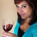 Happy Wine Taster — Stock Photo