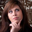 Woman Thinker — Stock Photo #8698189