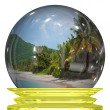 Tropical Beach Snow Globe — Stock Photo