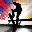 Abstract Skateboarder — Stock Photo