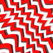 Red Zig Zag Pattern - Stock Photo