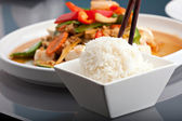 Thai Food and Jasmine Rice — Stock Photo