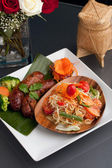 Thai Sausage and Som Tum — Stock Photo