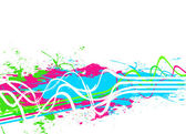 Splattered Paint Background — Stock Photo