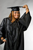 Happy Graduation Girl — Stock Photo