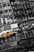 Soyut nyc taksi — Stok fotoğraf