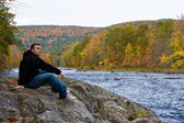 Vermont River Man — Stock Photo