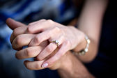 Engagement Ring Couple — Stock Photo