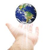 世界在你的手 — 图库照片